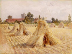 Cuadro de plexi-alu  Corn Stooks by Bray Church - Hardy Heywood