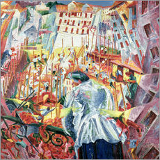 Vinilo para la pared  The Street Enters the House - Umberto Boccioni