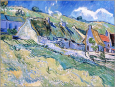 Lienzo  Thatched cottages at Auvers-sur-Oise - Vincent van Gogh