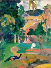 Vinilo para la pared  Landscape with peacocks - Paul Gauguin