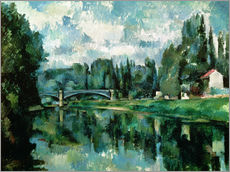 Vinilo para la pared  The Banks of the Marne at Creteil - Paul Cézanne