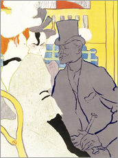 Cuadro de plexi-alu  The Englishman at the cabaret - Henri de Toulouse-Lautrec