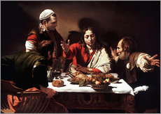 Cuadro de plexi-alu  The Supper at Emmaus - Michelangelo Merisi (Caravaggio)