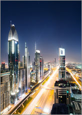 Cuadro de plexi-alu  Dubai city skyline at night, United Arab Emirates - Matteo Colombo
