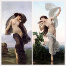 Vinilo para la pared  Crepúsculo y Aurora - William Adolphe Bouguereau