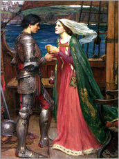 Cuadro de plexi-alu  Tristan e Isolda - John William Waterhouse