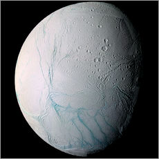 Vinilo para la pared  Saturn's moon Enceladus - Stocktrek Images