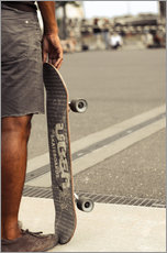 Vinilo para la pared  Skateboard freedom II - coloured - Christian Seidenberg
