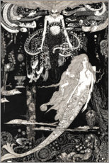 Cuadro de plexi-alu  The Little Mermaid - Harry Clarke