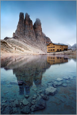 Vinilo para la pared  Vajolet towers in the Dolomites - Matteo Colombo