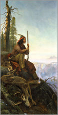 Cuadro de plexi-alu  The signal fire (Indian after the hunting) 1880 - William Hahn