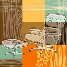 Vinilo para la pared lounge chair