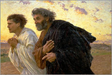 Cuadro de plexi-alu  Morning of the resurrection, Peter and John on their way to the grave - Eugene Burnand