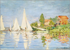 Póster  Regatta boats in Argenteuil - Claude Monet
