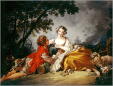 Póster  Two lovers - François Boucher