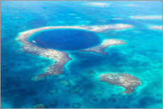 Cuadro de plexi-alu  Great Blue Hole, Belize - Matteo Colombo
