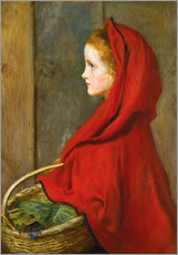 Cuadro de plexi-alu  Red Riding Hood - Sir John Everett Millais