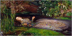 Vinilo para la pared  Ophelia - Sir John Everett Millais