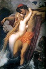 Cuadro de plexi-alu  The Fisherman and the Syren - Frederic Leighton