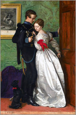 Cuadro de plexi-alu  The Black Brunswicker - Sir John Everett Millais