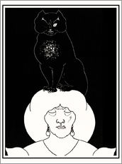 Vinilo para la pared  The black cat - Aubrey Vincent Beardsley
