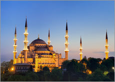 Vinilo para la pared  Blue Mosque at twilight - Circumnavigation