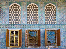 Vinilo para la pared  Islamic windows of the Topkapi palace - Circumnavigation