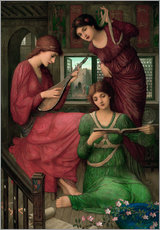 Cuadro de plexi-alu  In the golden days - John Melhuish Strudwick