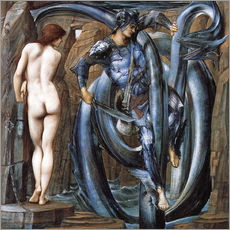 Cuadro de plexi-alu  Perseus met the fate - Edward Burne-Jones