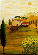 Vinilo para la pared  Girasoles en la Toscana - Christine Huwer