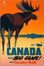 Vinilo para la pared  Canada travel for big game - Travel Collection