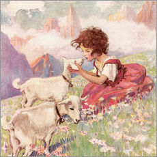 Cuadro de plexi-alu  Heidi - Jessie Willcox Smith