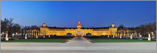 Cuadro de plexi-alu  Panoramic view of palace Karlsruhe Germany - FineArt Panorama