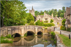 Cuadro de plexi-alu  The village of Castle Combe, Wiltshire (England) - Christian Müringer