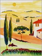 Vinilo para la pared  Tuscany Idyll 5 - Christine Huwer