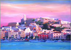 Vinilo para la pared  Ibiza Old Town and Harbour - Pearl Of the Mediterranean Sea - M. Bleichner