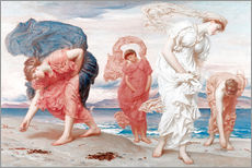 Vinilo para la pared  Greek girls picking up pebbles - Frederic Leighton