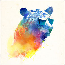 Vinilo para la pared  Oso de colores - Robert Farkas
