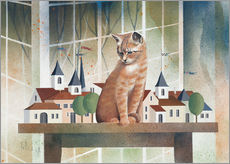 Vinilo para la pared  View of the cat - Franz Heigl