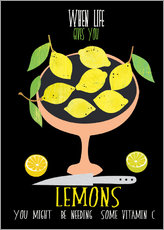 Vinilo para la pared  When live gives you lemons - Elisandra Sevenstar