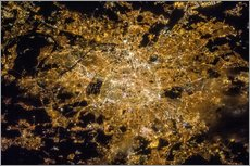 Vinilo para la pared Paris by night from above