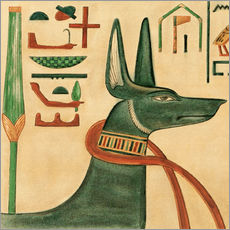 Vinilo para la pared  The Tomb of Siptah, Anubis - Ernest Harold Jones