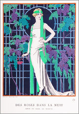 Vinilo para la pared  Roses in the Night - Georges Barbier