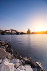 Cuadro de plexi-alu  Cologne on the Rhine-shore - rclassen