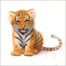Vinilo para la pared Cute Tiger Cub