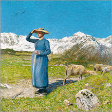 Cuadro de plexi-alu  Lunch in the Alps - Giovanni Segantini