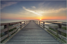 Vinilo para la pared  Schoenberger beach jetty at sunrise - Dennis Stracke