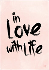 Vinilo para la pared  in love with life - m.belle
