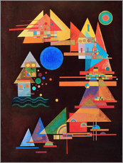 Vinilo para la pared  Peaks in the bow - Wassily Kandinsky