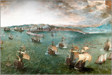 Vinilo para la pared  Port of Naples - Pieter Brueghel d.Ä.
